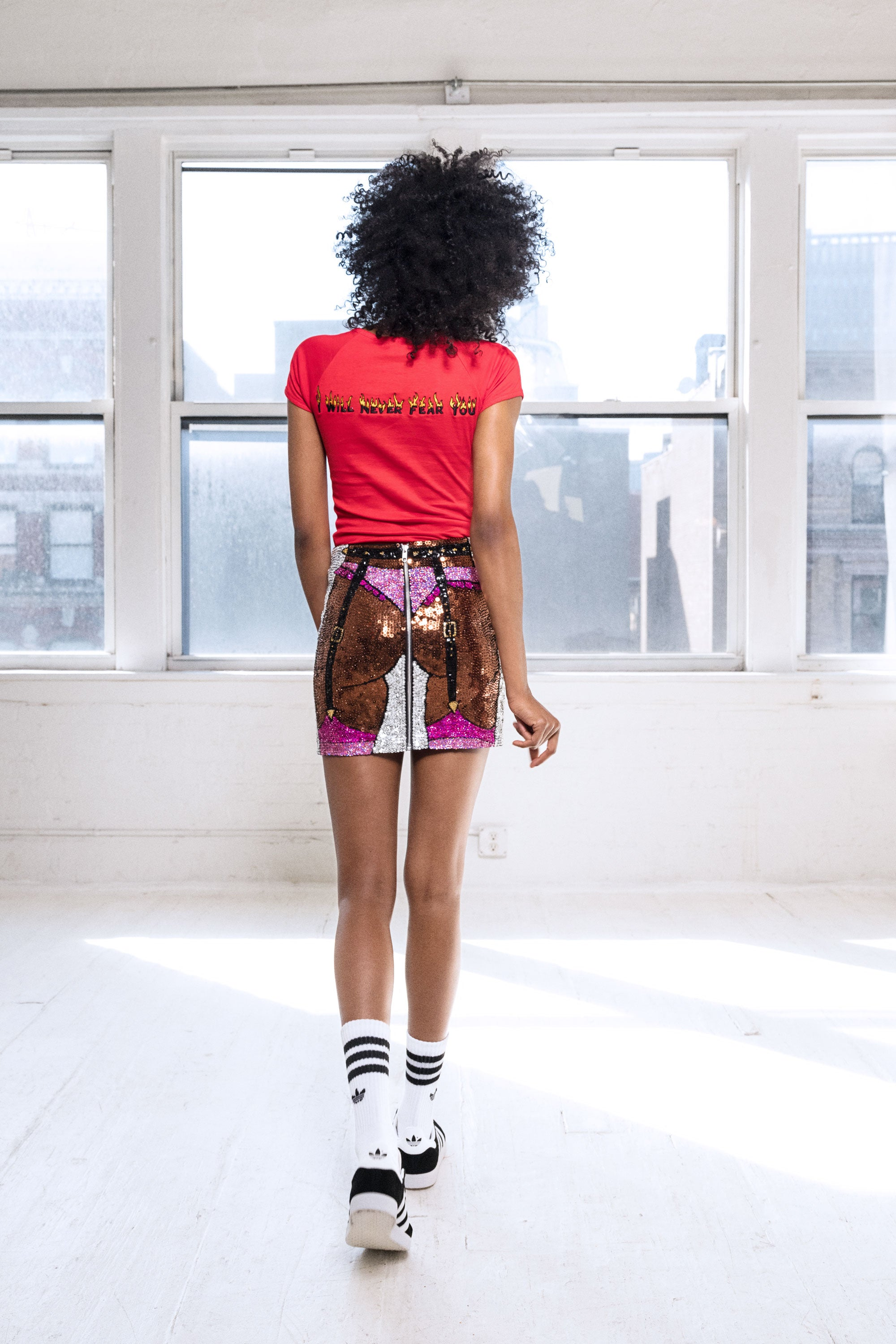 Stairway to Heaven Mini Skirt in Brown
