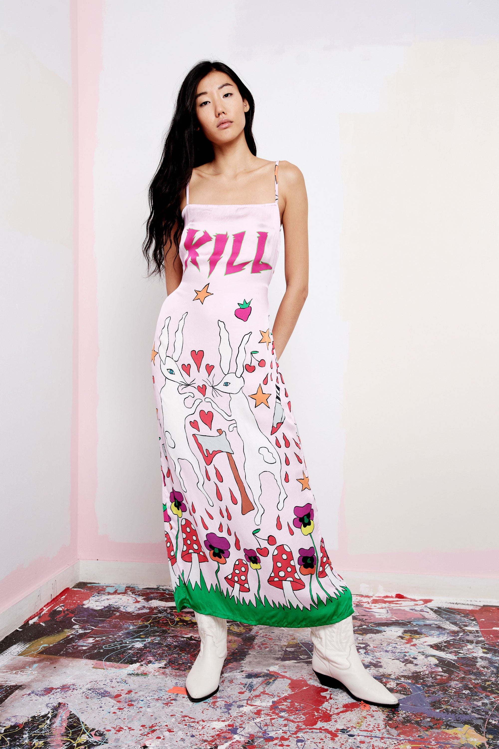 Kill Kill Kill Slip Dress