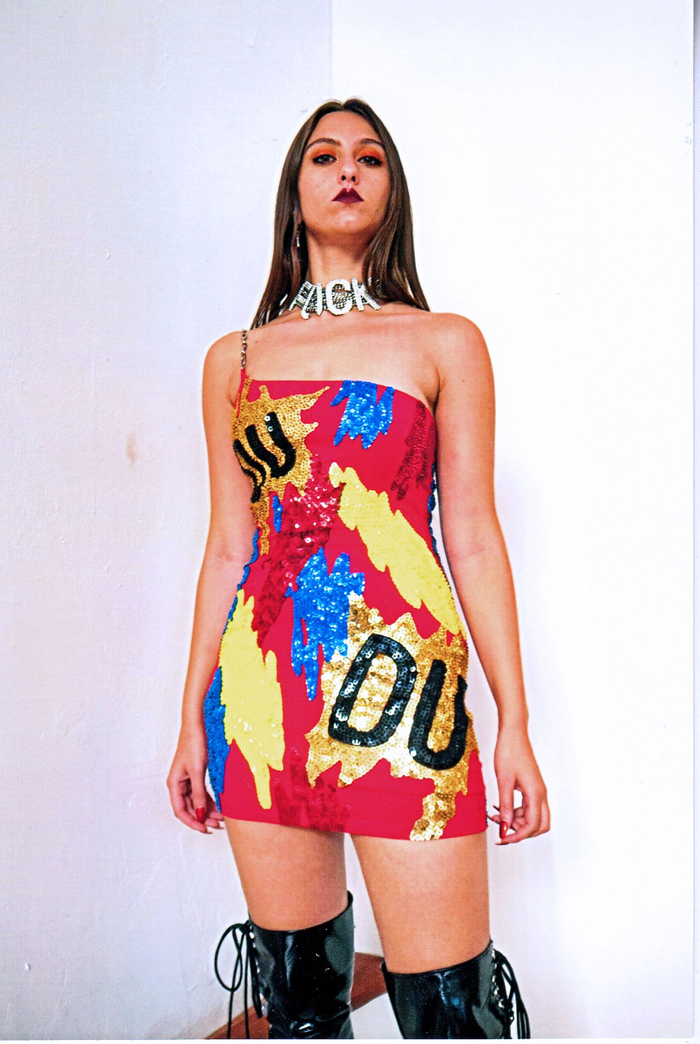 'PAINT SPLATTER' Mini Dress