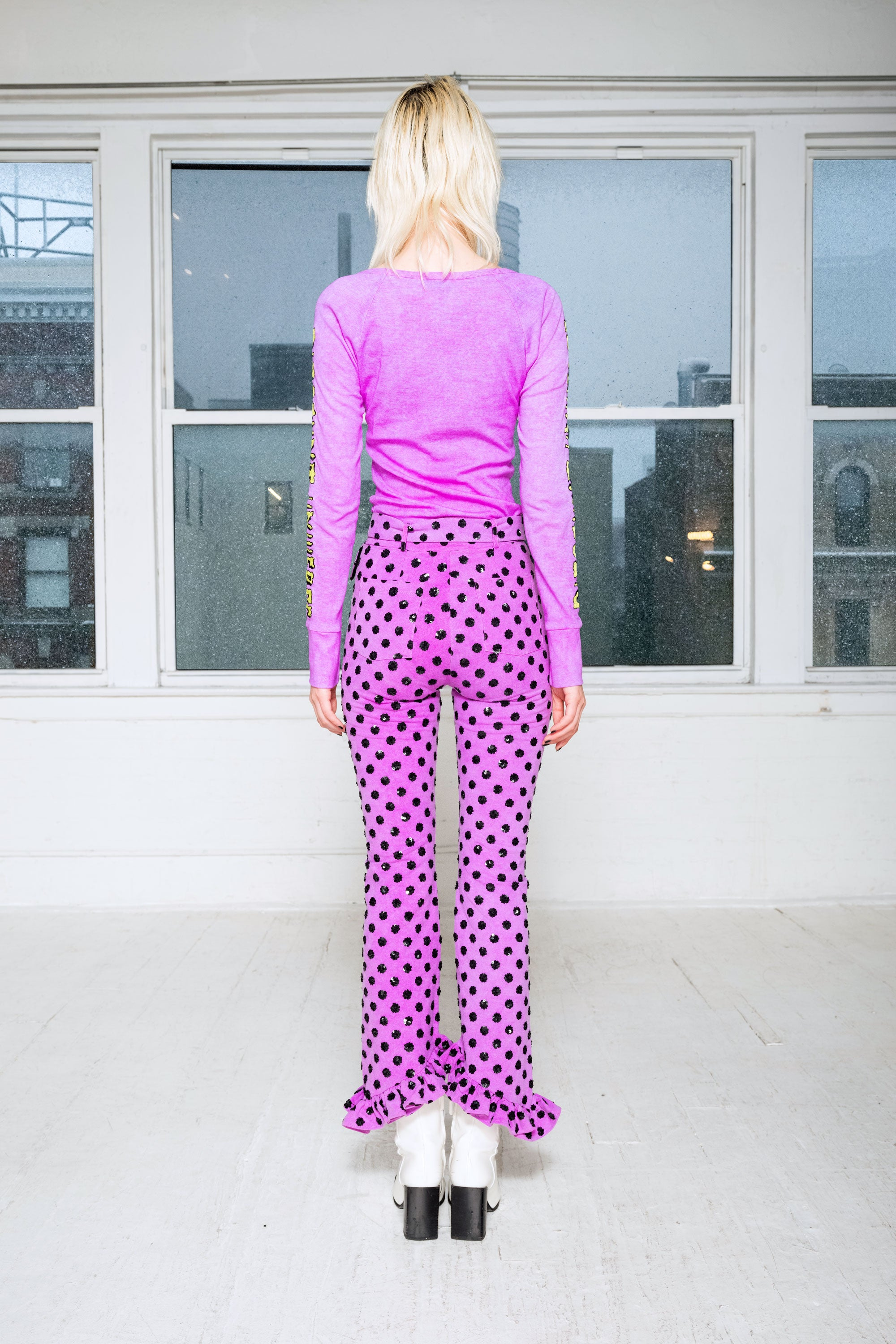 The Modern Love Sequin Pants in Purple