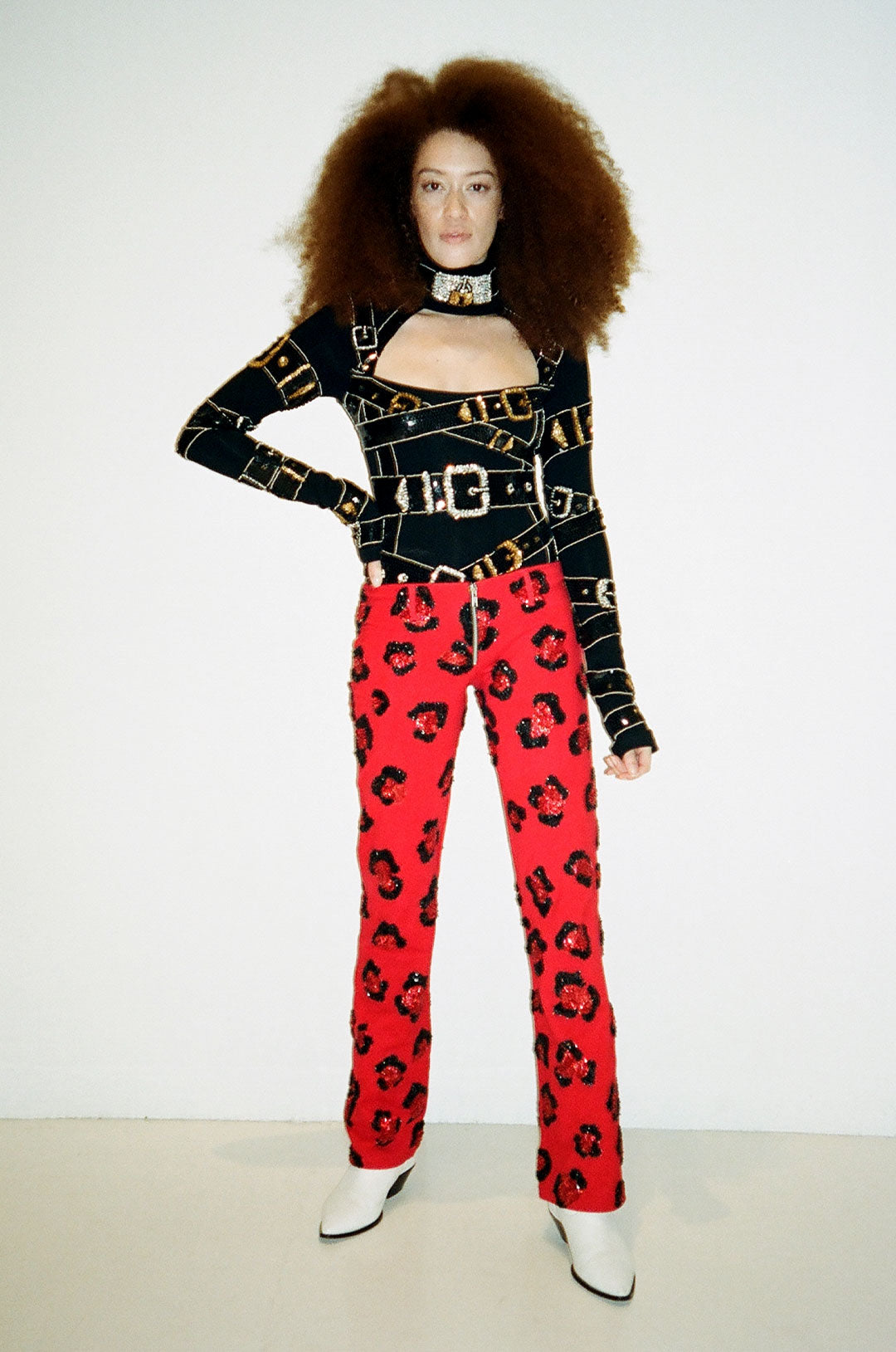 The Fire Leopard Pants Red