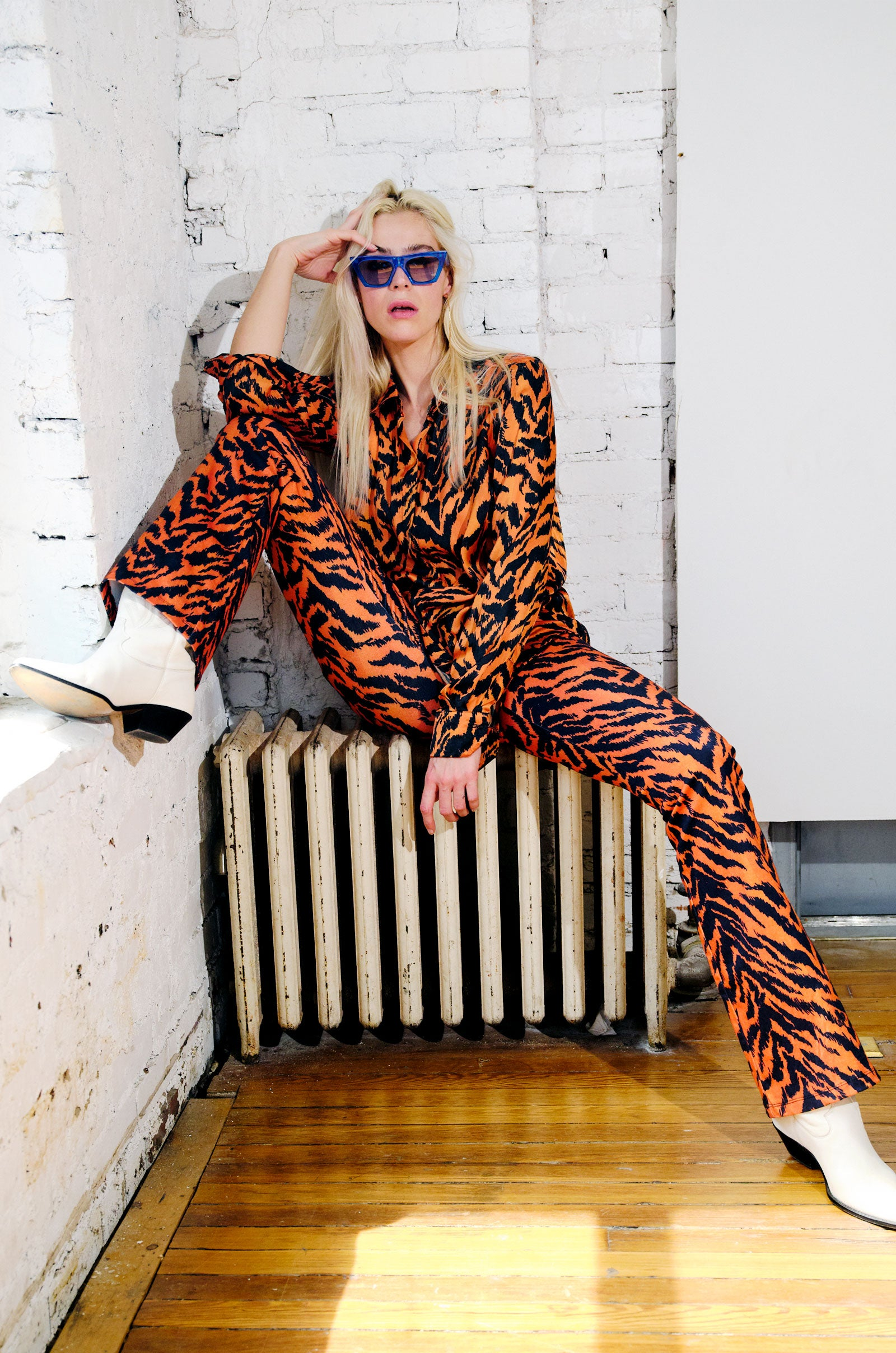 Foxy Lady Tiger Print Flares