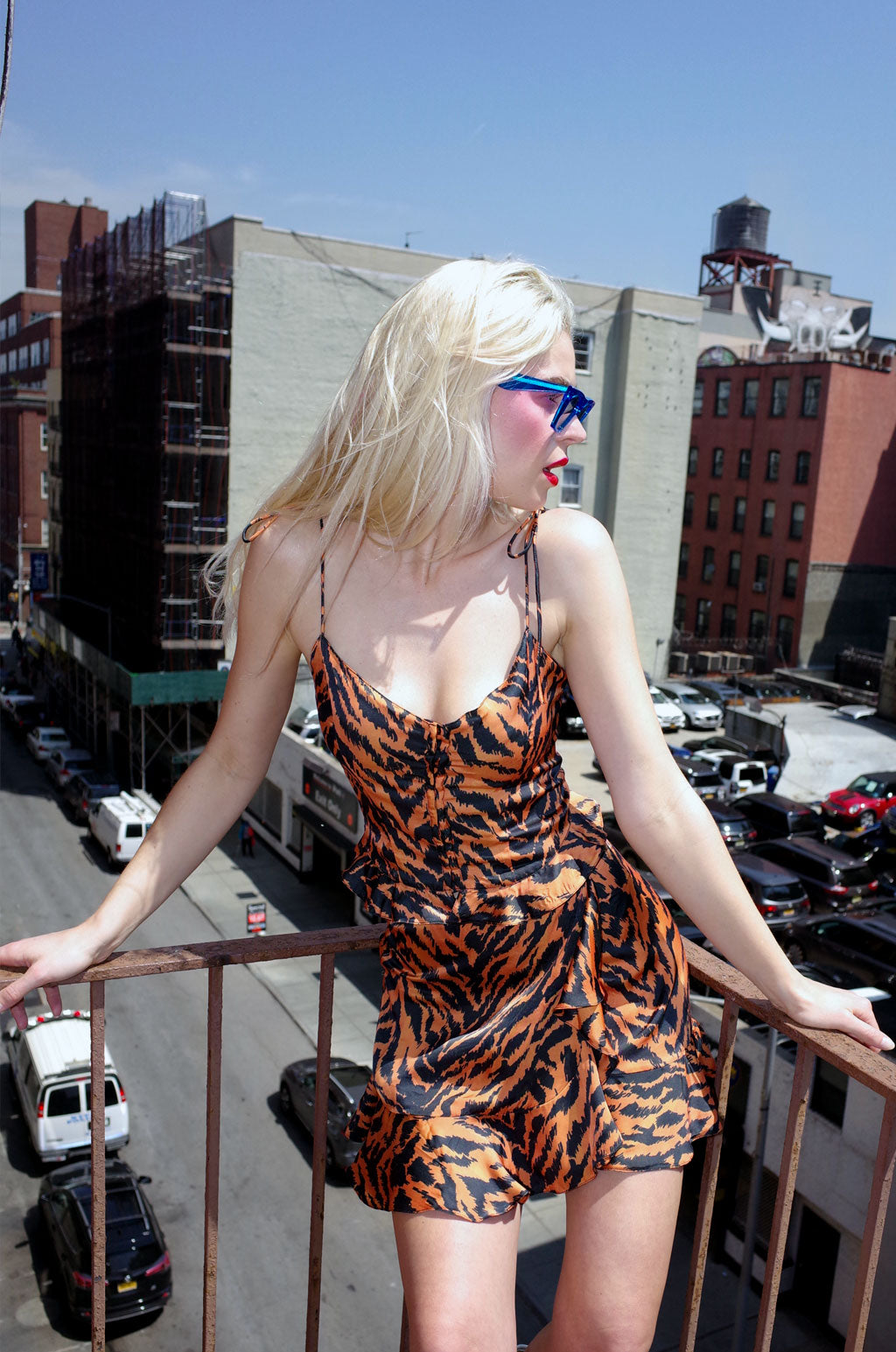 The Freyja Tie-Up Top in Tiger