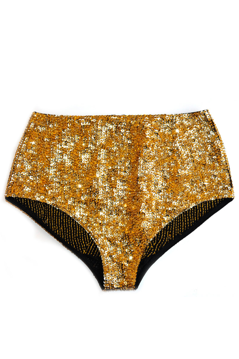 'Gold' Fully Sequined Bikini Bottoms