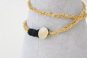 Handmade Double Knitted Gold Chain Bracelet
