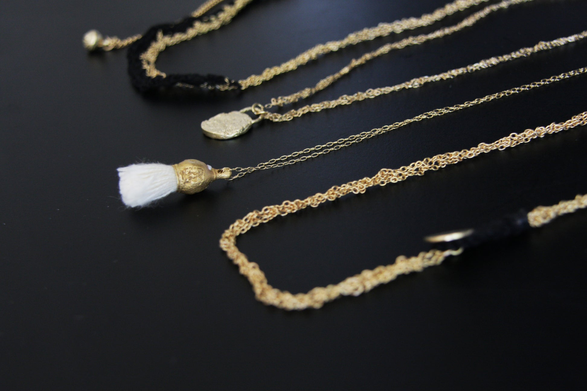 Unique White Tassel Necklace Inspired by nature