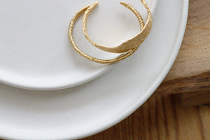 Gold Branch Open Bangle Bracelet