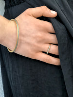 Load image into Gallery viewer, Minimalist Gold Plated And Concrete Bangle Bracelet By Hadas Shaham - hs