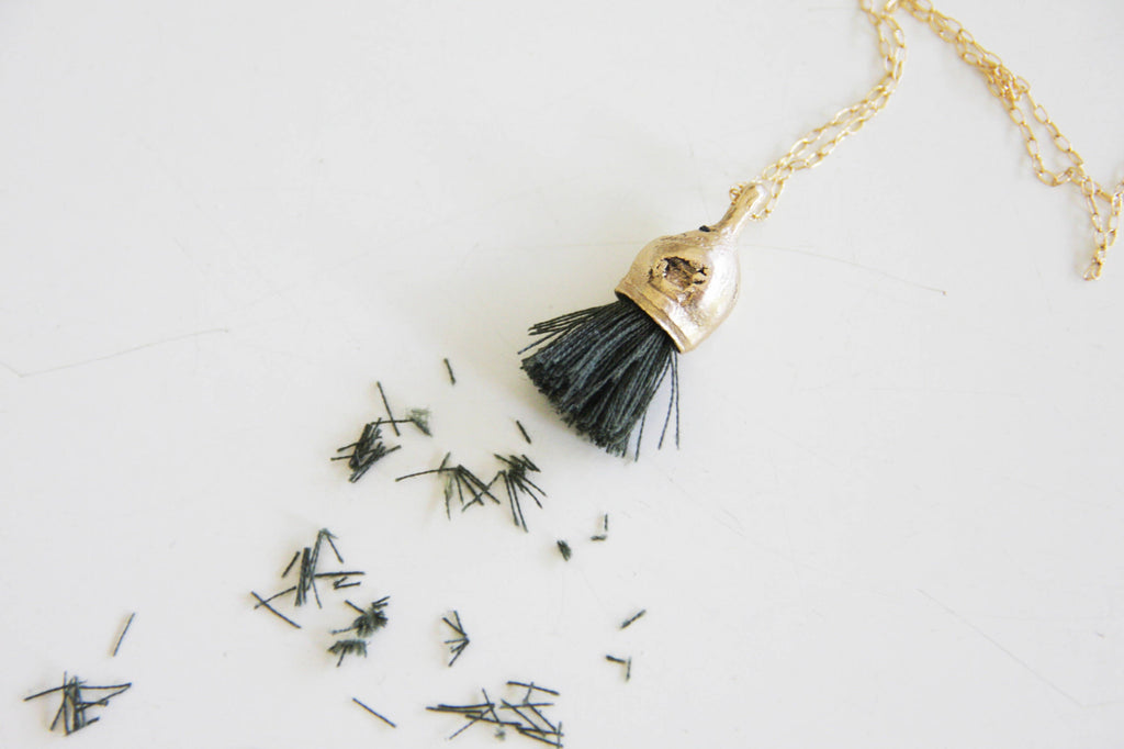 Handmade unique organic necklace & Tassel - Inspired by nature - hs