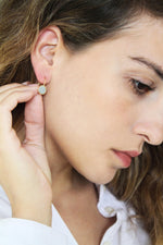 Load image into Gallery viewer, Classic round gold & concrete Dangle earrings - hs