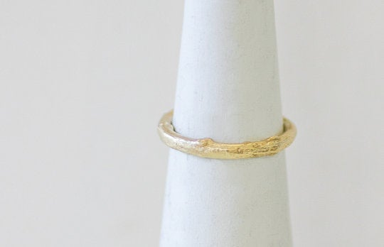 14K Gold Branch Twig Ring / Nature Ring for Women Engagement - hs