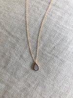 Load image into Gallery viewer, Gold & Concrete Teardrop Necklace - hs
