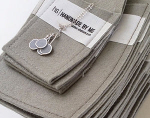 5 Round Concrete Pendants Necklace - hs