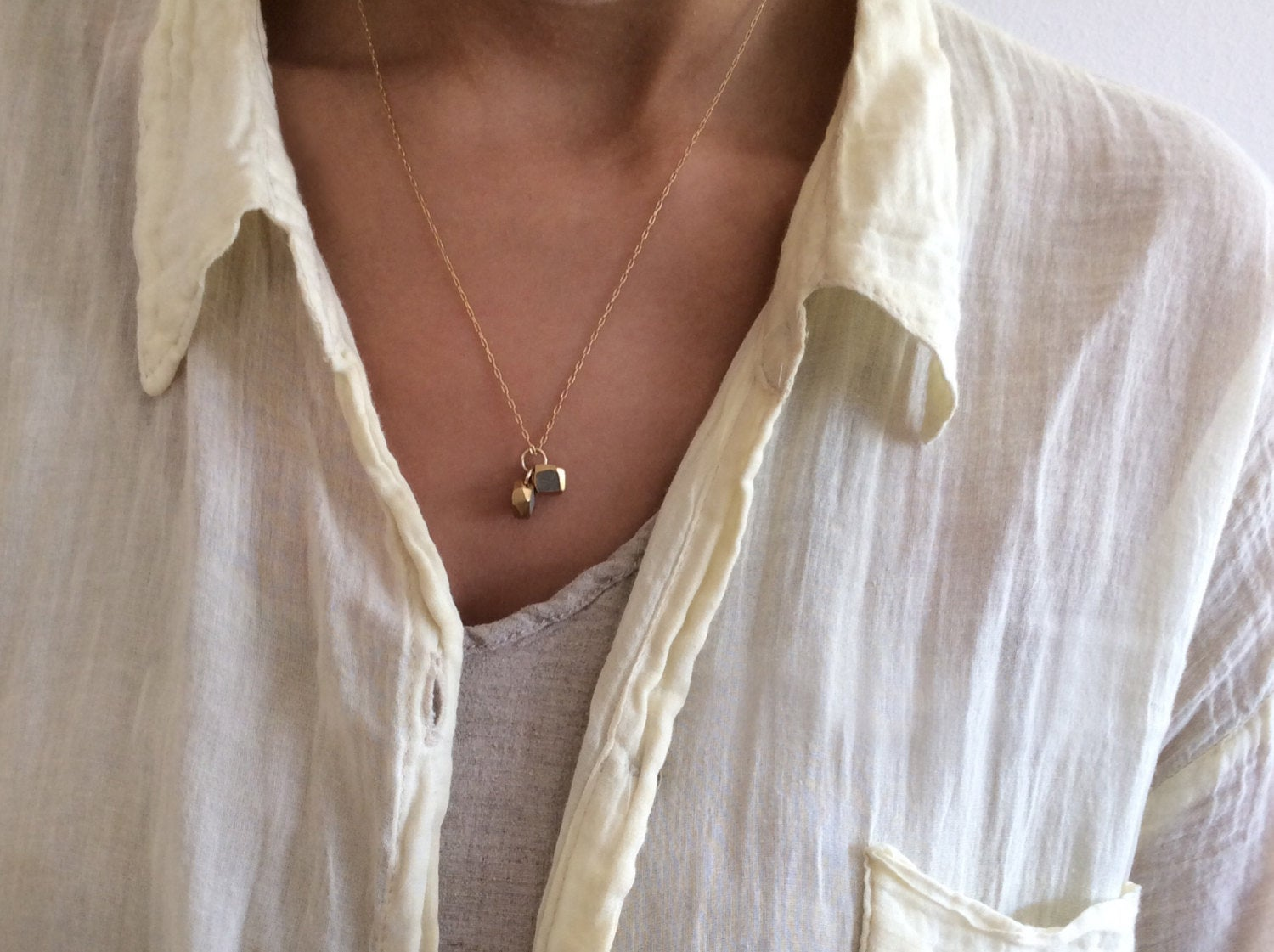 Every day Double Delicate Gold Necklace - hs