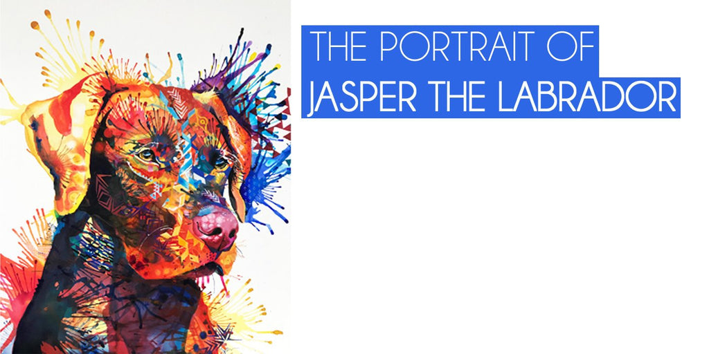 The Portrait of Jasper The Labrador-Sarah Taylor Art
