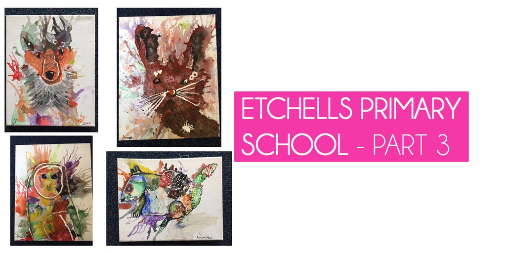 Etchells Primary School - Woodland Project Part 3-Sarah Taylor Art