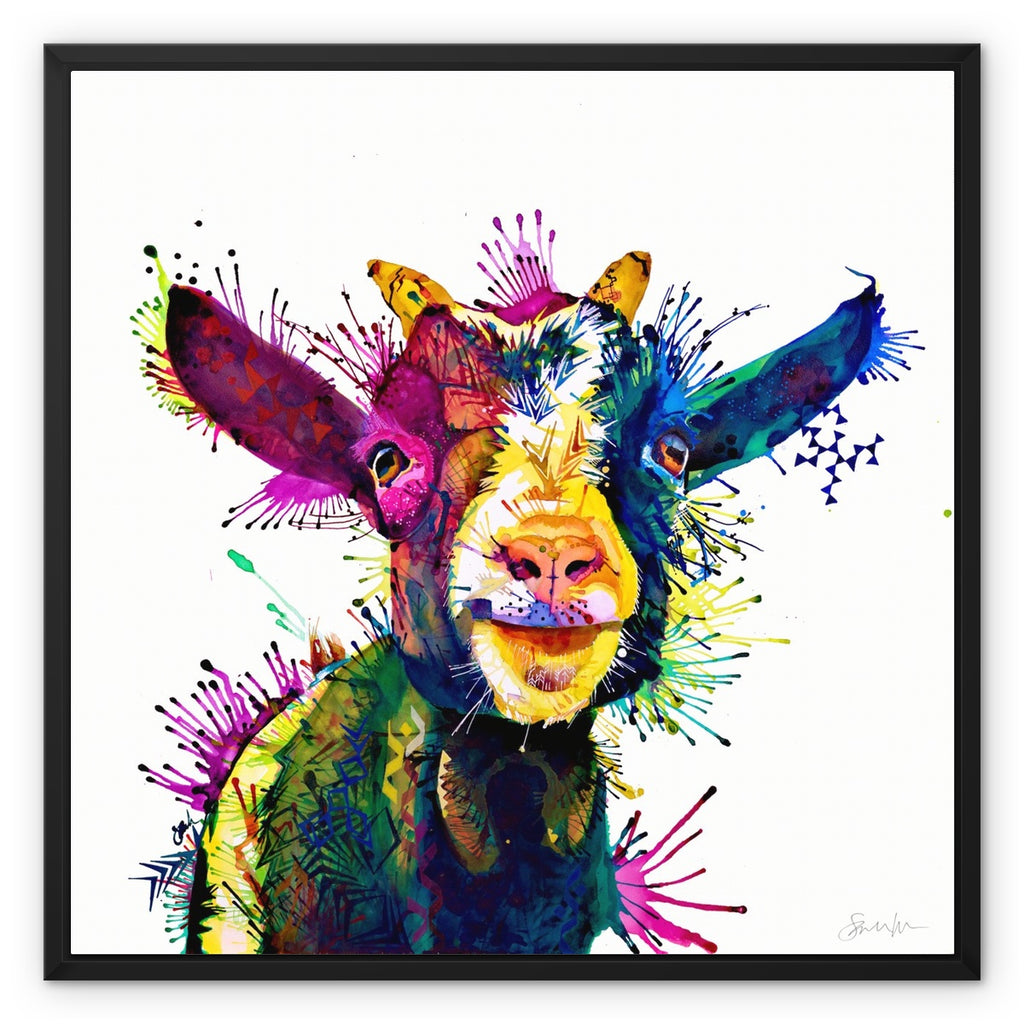 Zeus; King of Goats Framed Canvas-Fine art-Sarah Taylor Art