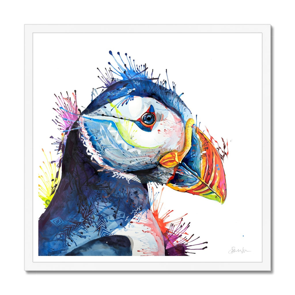 Peter Puffin Framed Print