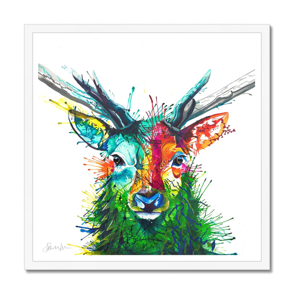 Elvis the Stag Framed Print