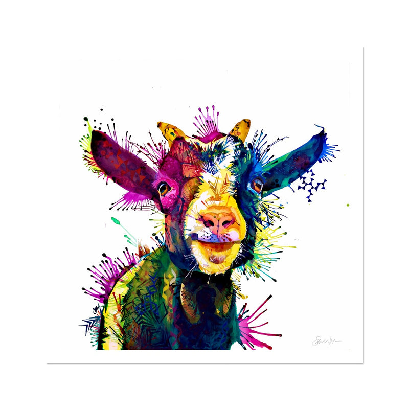 Zeus; King of Goats Fine Art Print
