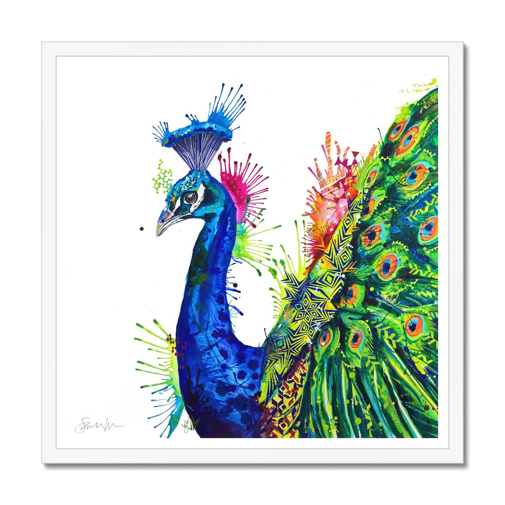 Percival Peacock Framed Print