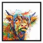 Maggie Moo Framed Canvas