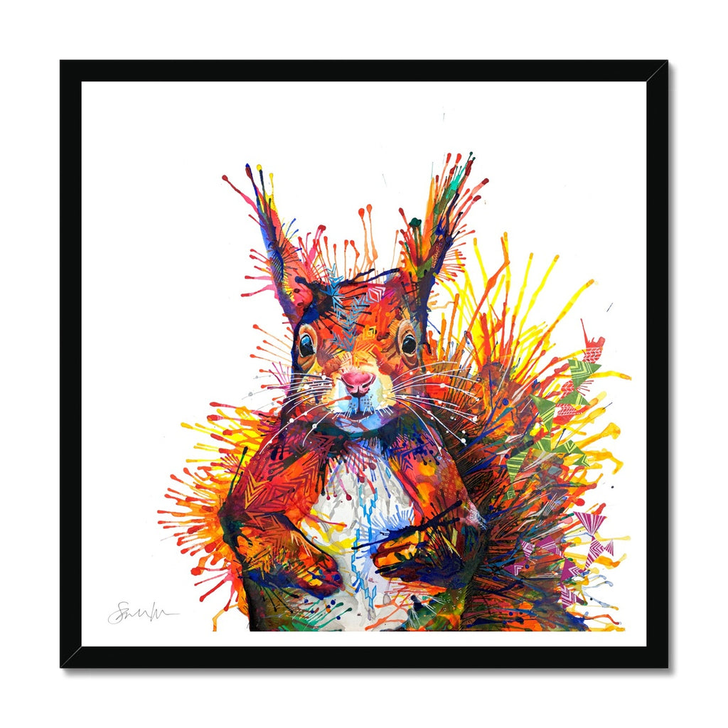 Cyril the Squirrel Framed Print-Fine art-Sarah Taylor Art