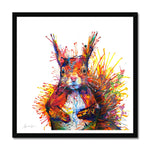 Cyril the Squirrel Framed Print