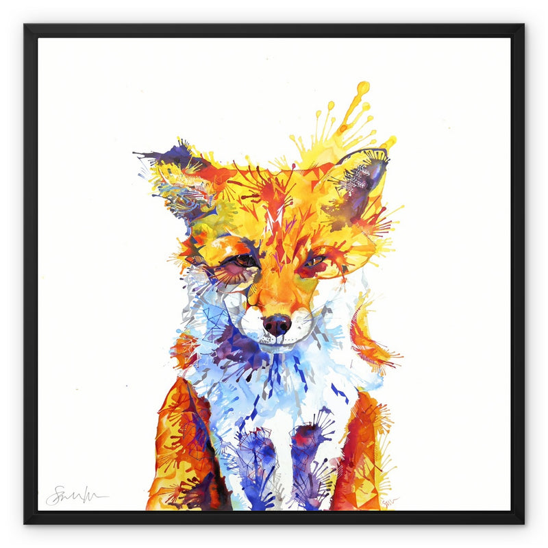 Fox of Delights Framed Canvas