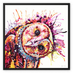 Hoot-a-nanny Framed Canvas