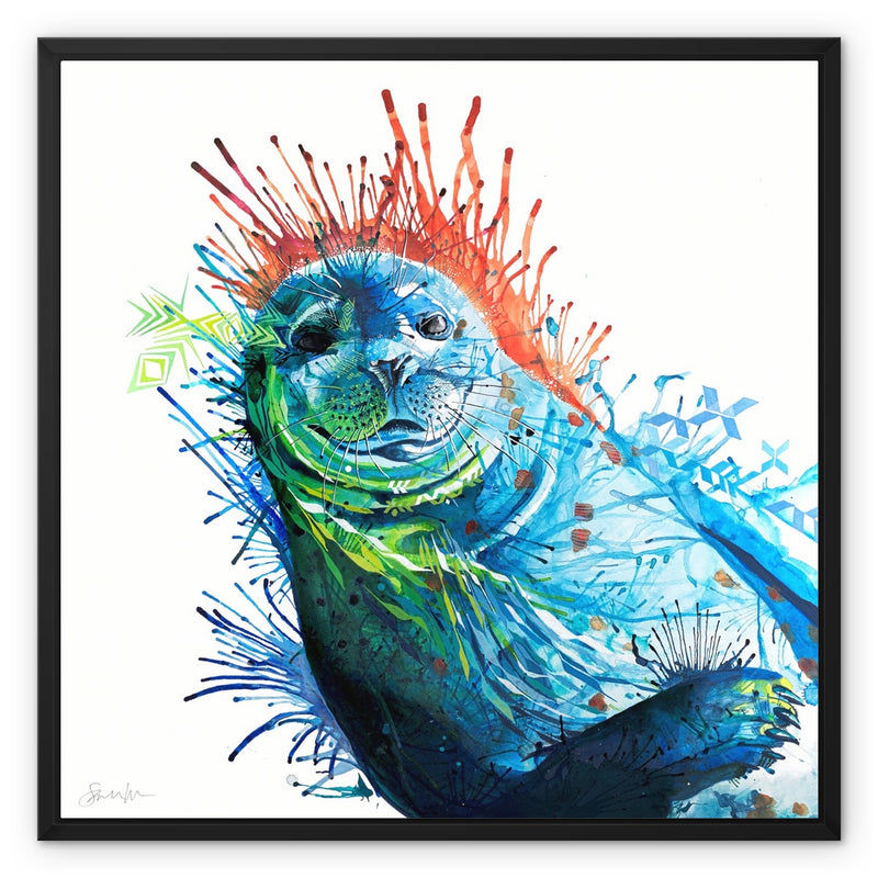 Seal of Approval Framed Canvas