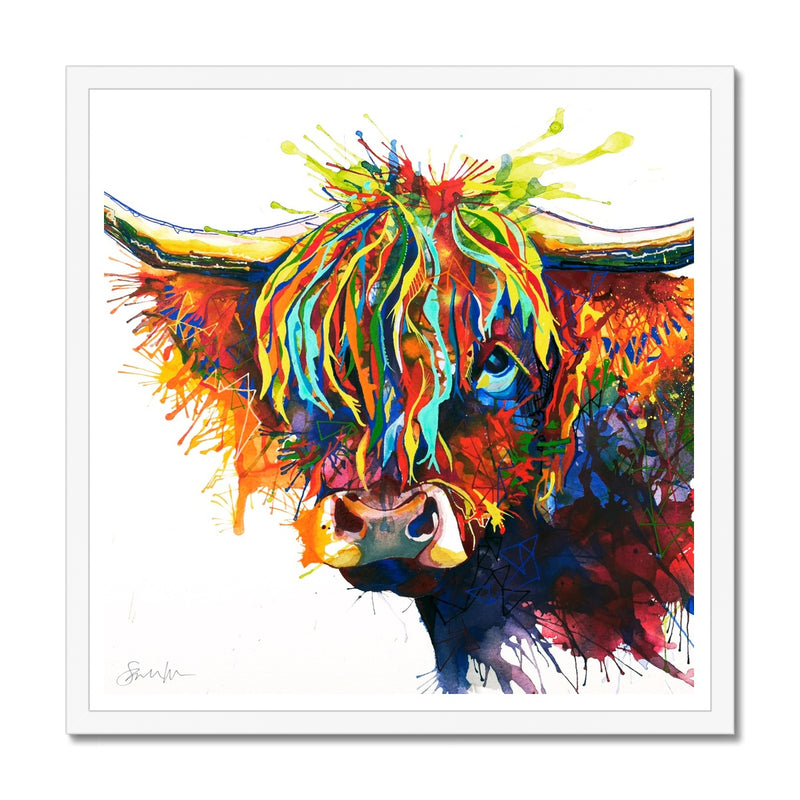 Highland Fling Framed Print