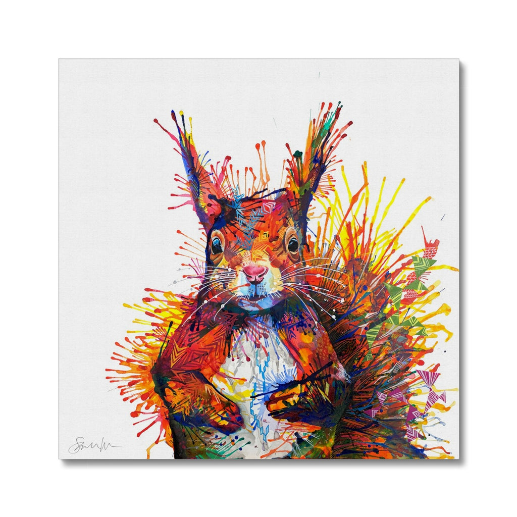 Cyril the Squirrel Canvas-Fine art-Sarah Taylor Art