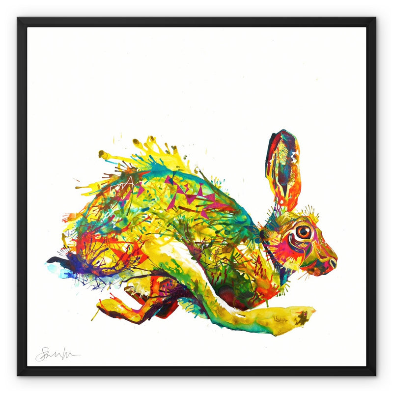 Here Hare here Framed Canvas