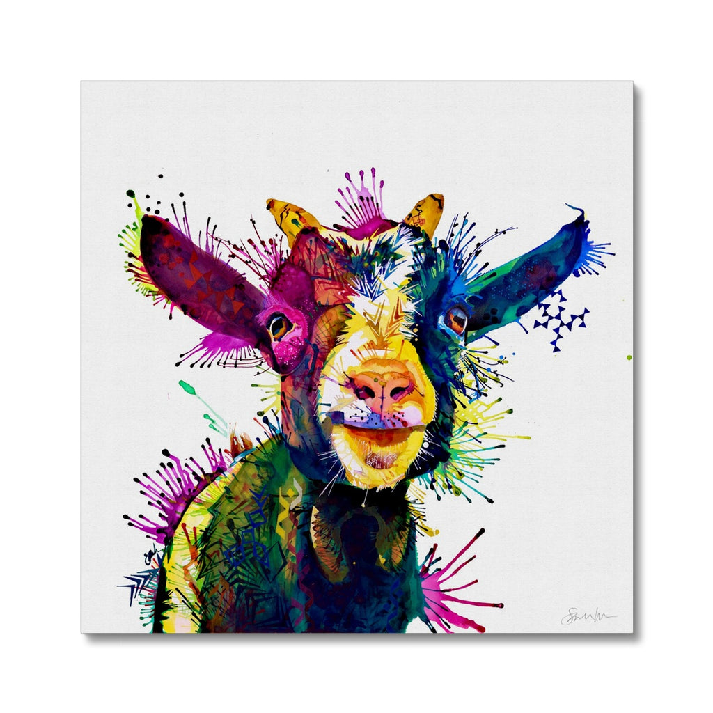 Zeus; King of Goats Canvas-Fine art-Sarah Taylor Art