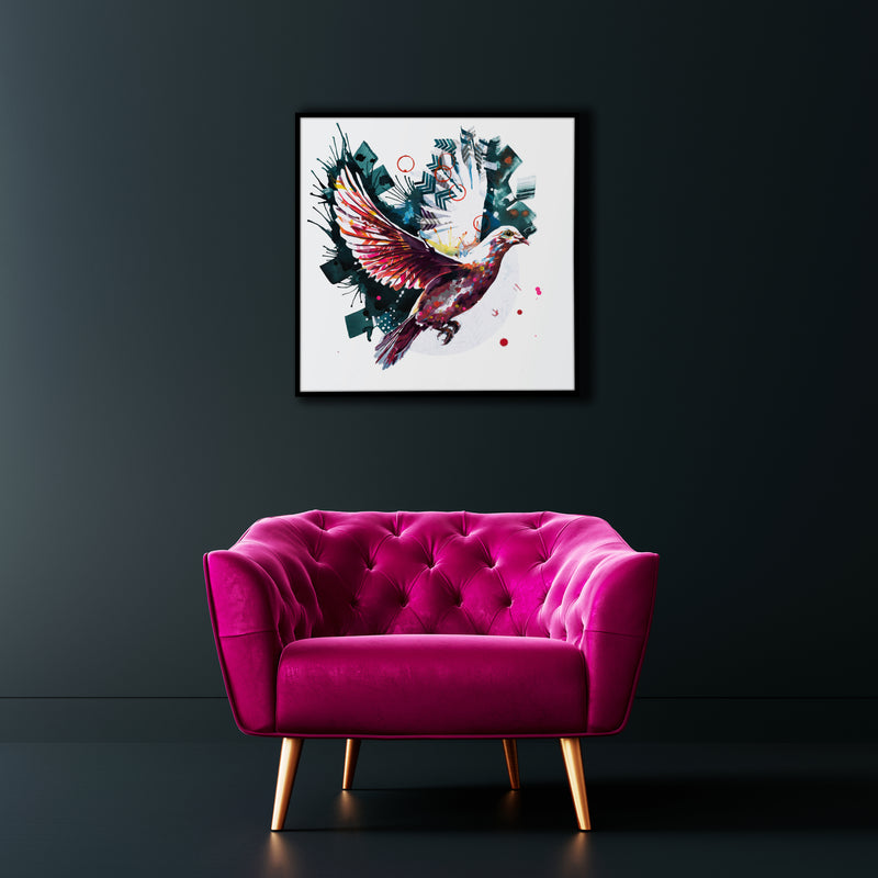 The Dove from above - Original dove painting