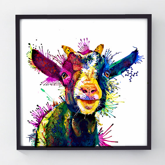 Zeus; King Of Goats - Original Goat Painting