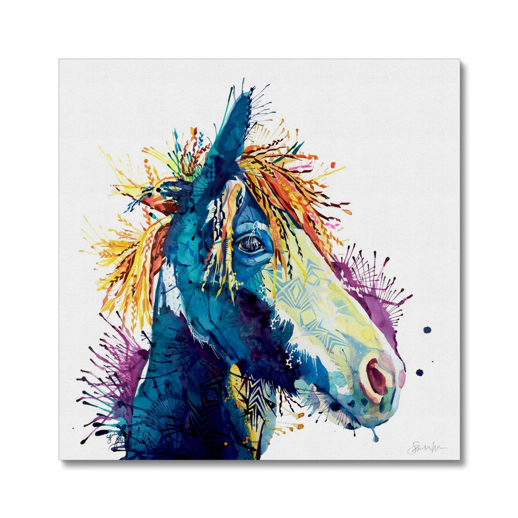 The Dark Horse Canvas-Fine art-Sarah Taylor Art