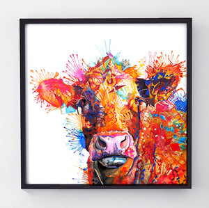 Agnes - Original Cow Painting