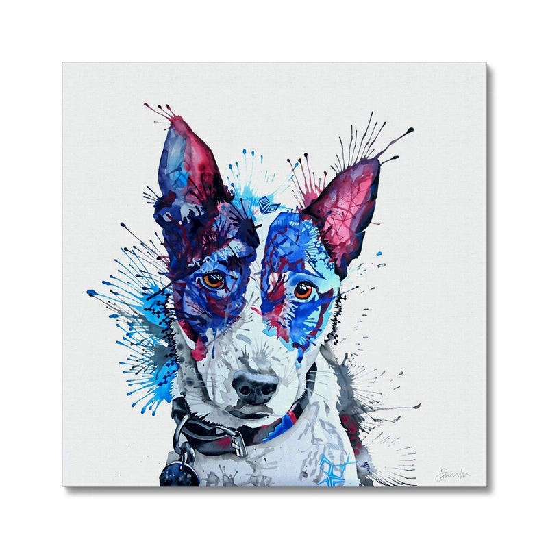 English Terrier Cross Canvas