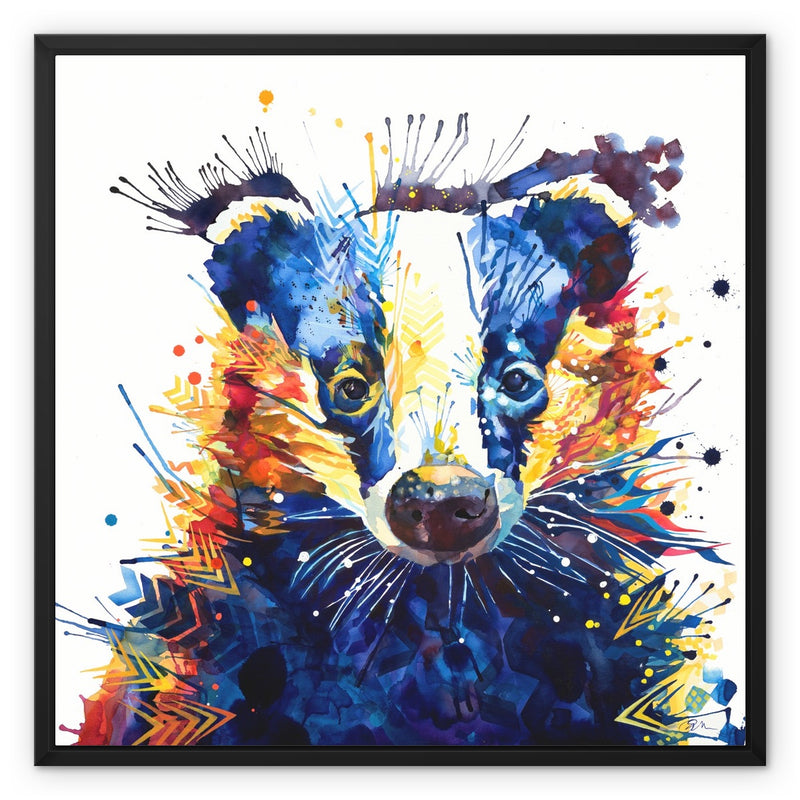 Billy Badger Framed Canvas
