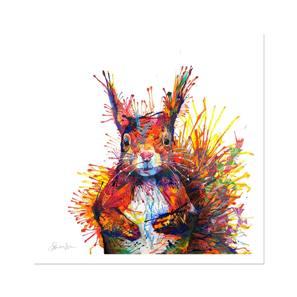 Cyril the Squirrel Fine Art Print-Fine art-Sarah Taylor Art