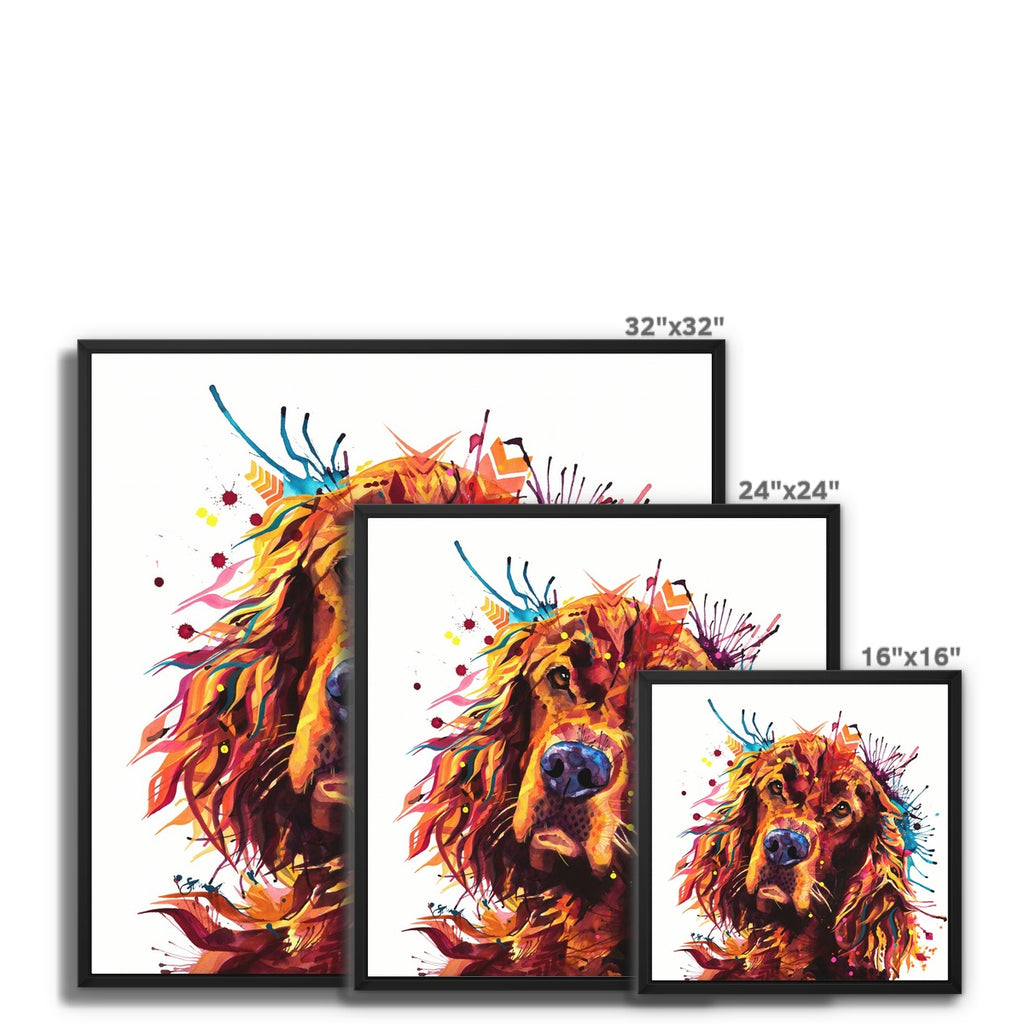 Irish Setter Framed Canvas