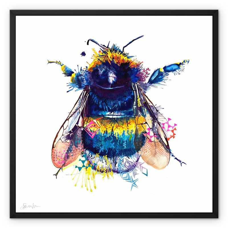 Queen Bee Framed Canvas