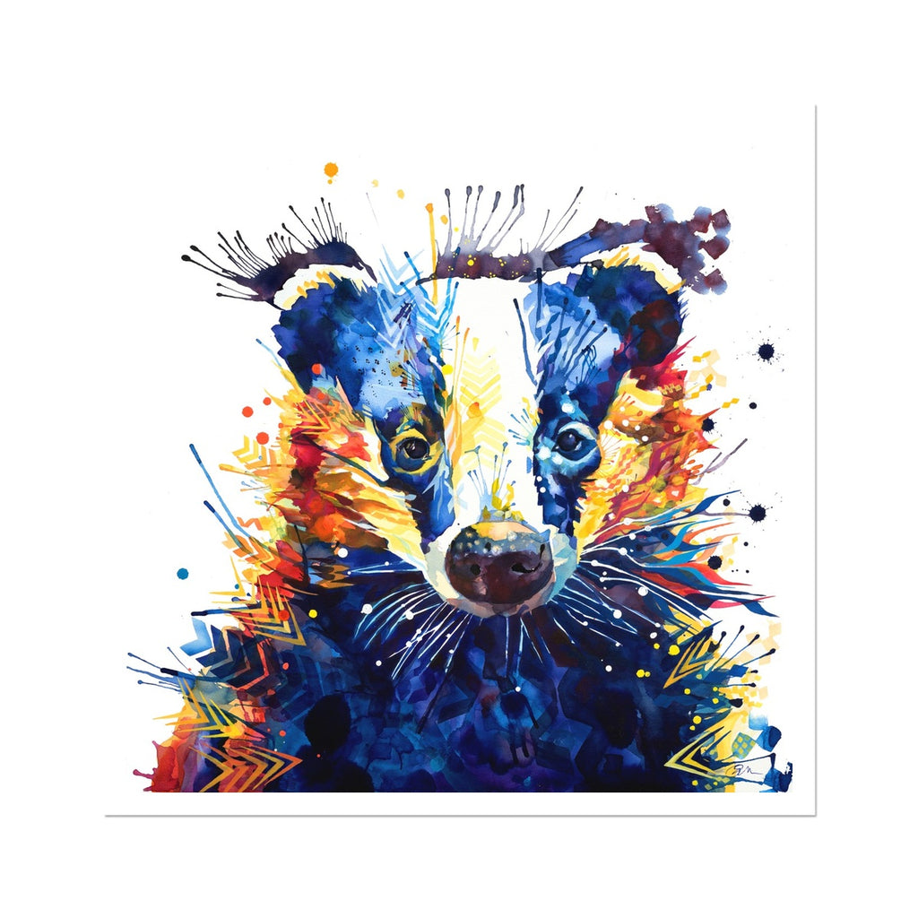 Billy Badger Fine Art Print-Fine art-Sarah Taylor Art