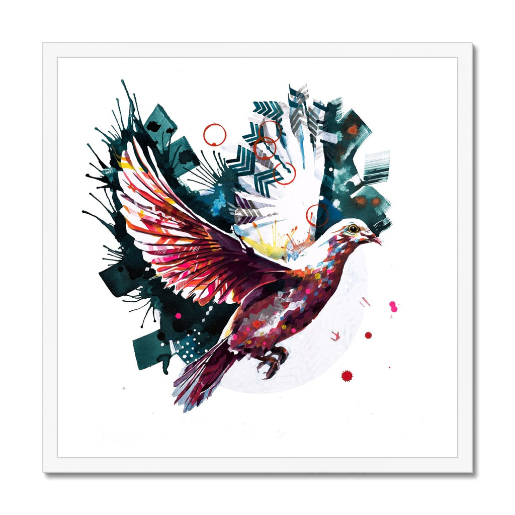 The Dove from Above Framed Print