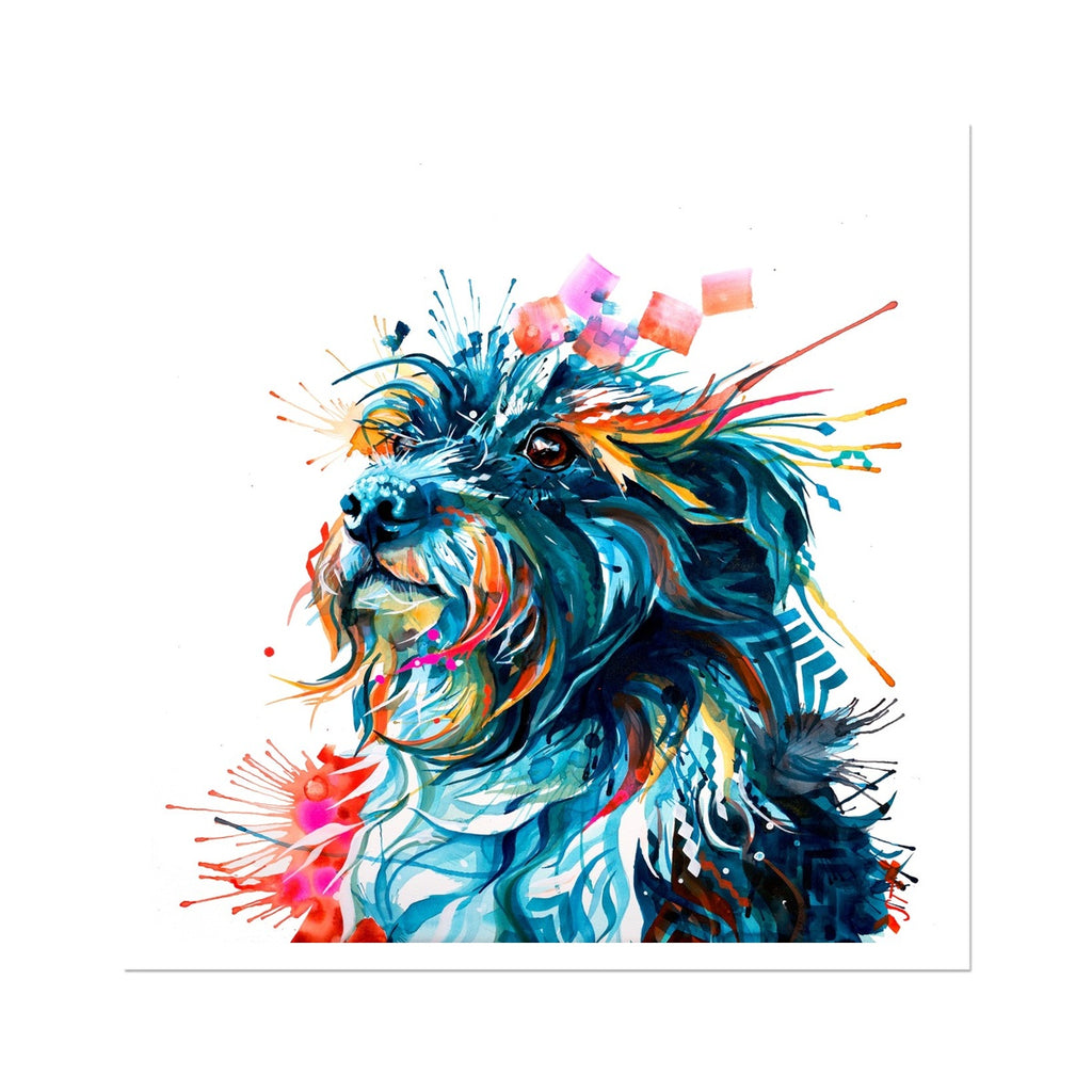 Terrier / Collie Cross Fine Art Print-Fine art-Sarah Taylor Art