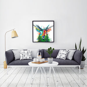 Elvis The Stag - Original Stag Painting