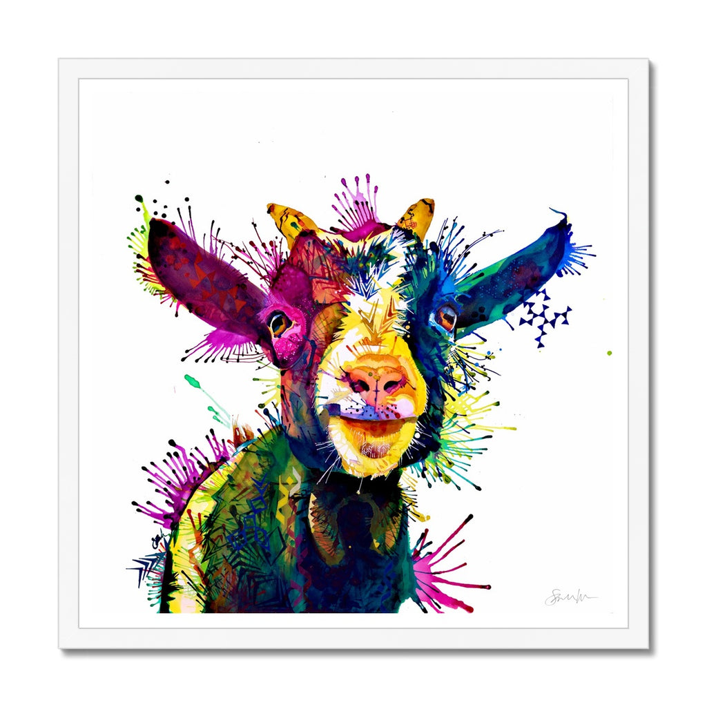 Zeus; King of Goats Framed Print