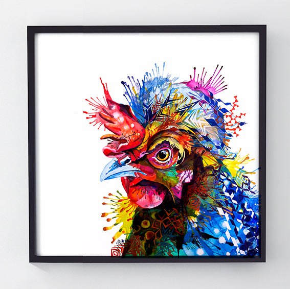 Gloria - Original Hen Painting-Originals-Sarah Taylor Art